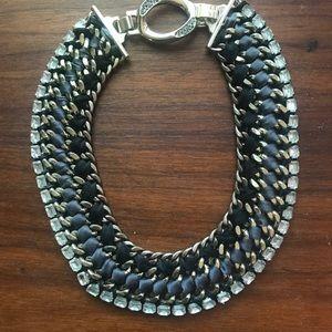 Stella & Dot black statement necklace